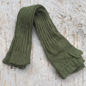 Free People Green Arm Warmers